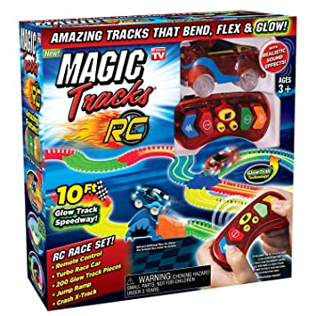 Amazon Com Ontel Magic Tracks Rc With Remote Control Turbo Race