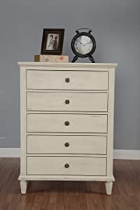 LuXeo Cambridge chest, dresser, White