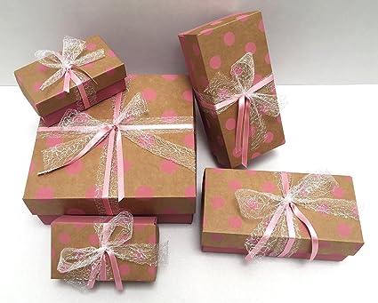 / 24/petits Marron Papier Kraft Mini Bo/îtes cadeau de No/ël avec /étoiles dor/ées bo/îtes pour calendrier d /Bo/îtes cadeau emballage de No/ël pour Cadeaux de No/ël 10/x 4/x 8/cm