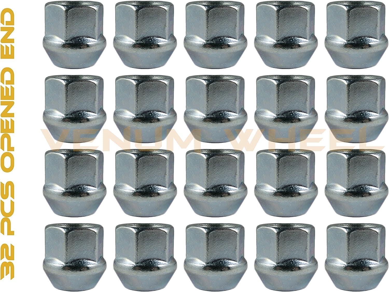 "32pc Bulge Acorn Lug Nuts 14x1.5 4pc 8x170 1.5/"" Black HubCentric Wheel Adapters"