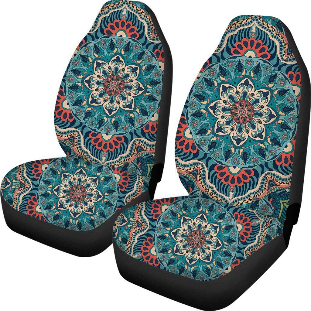 SUV or Van Auto Accessories Protector Trunk Showudesigns African Car Seat Covers Front Seats Planet Bohemian Indian Hippie Sun Moon Universal Bucket Seat Cover for Car Sedan
