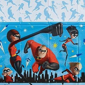 "American Greetings Incredibles 2 Plastic Table Cover, 54"" x 96"" - 6107608"