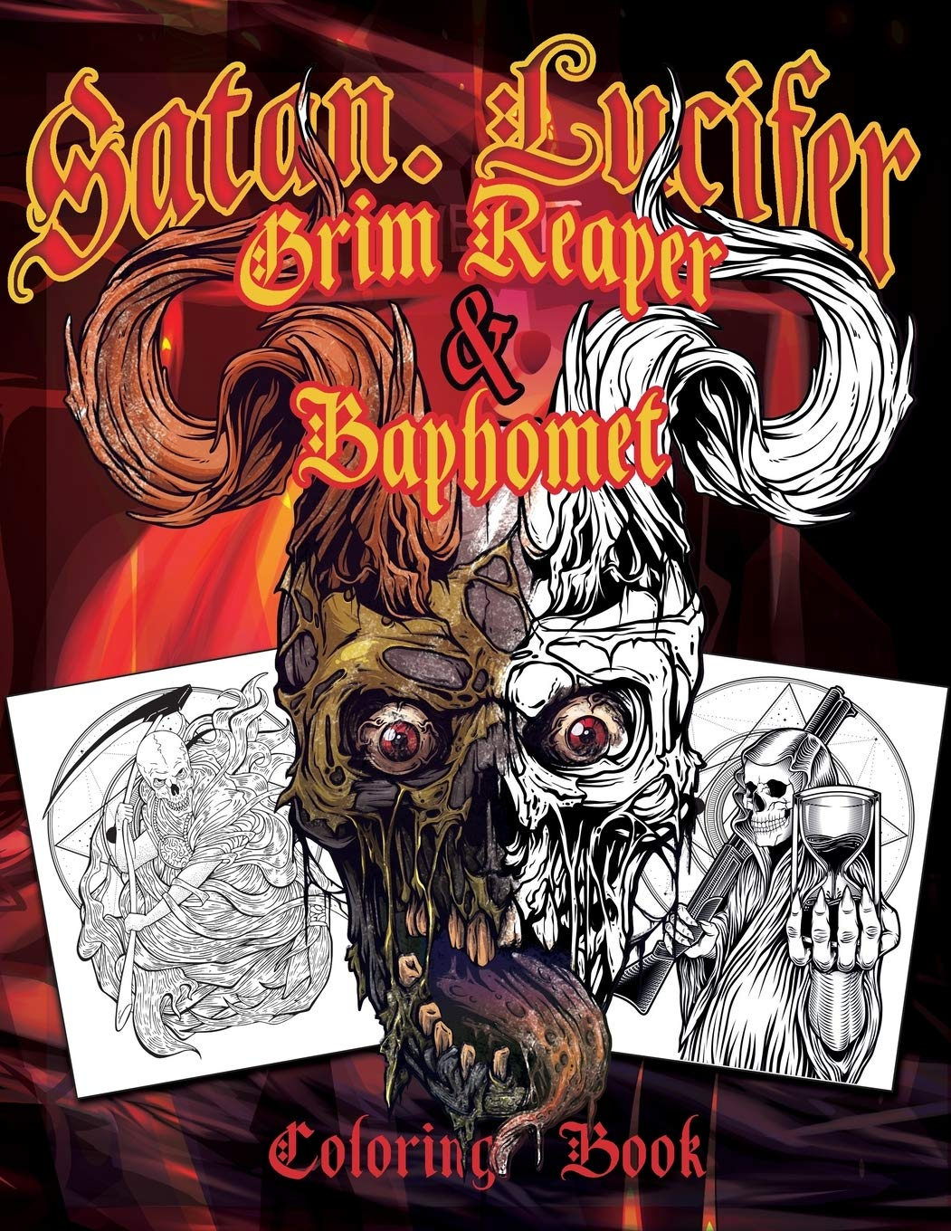 Satan Lucifer Grim Reaper Baphomet Coloring Book Featuring Black Goat Cthulhu The Grim Reaper The Krampus And More 35 Single Sided Pages Contains Adult Content Giraldo Juan 9781674948331 Amazon Com Books