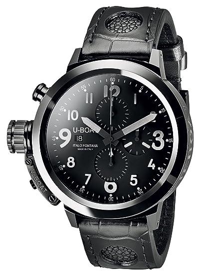 U-Boat Reloj Automático para Hombre con cronógrafo y Negro Correa de Piel 7387: Amazon.es: Relojes