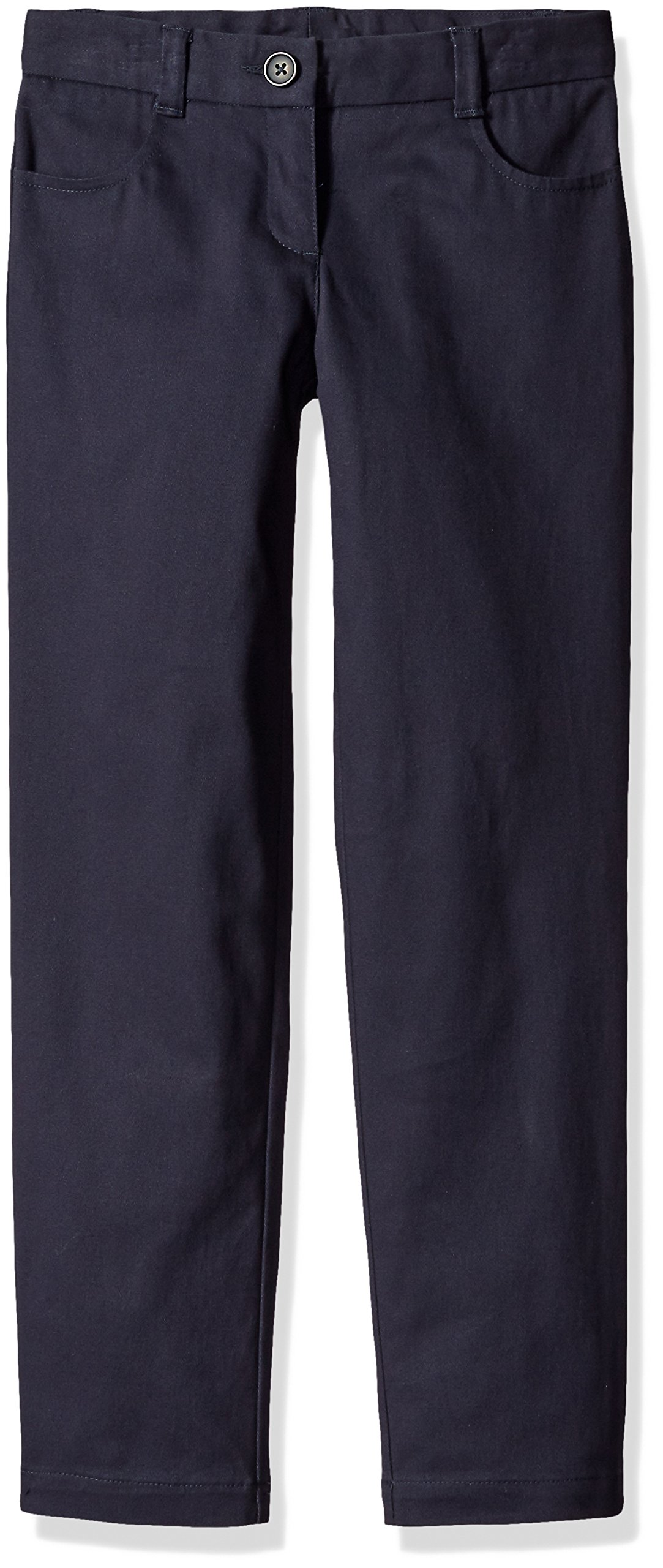 Dockers Big Girls' Uniform Skinny Pant, Navy, 14