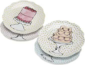 Amazon.com   Rosanna Eat Dessert First Dessert Plates Set