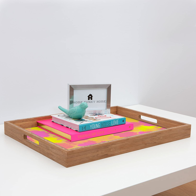 17 x 22.5 Deny Designs Rebecca Allen Spring Fevers Indoor//Outdoor Rectangular Tray