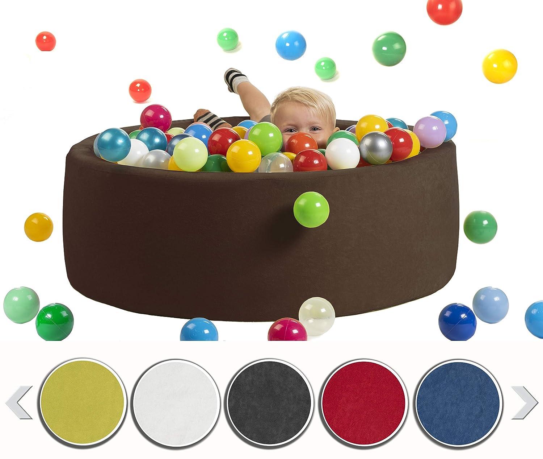 blau sunnypillow B/ällebad f/ür Baby Kinder mit 200 bunten B/ällen//∅ 7cm B/ällepool 90x30cm viele Farben zur Auswahl Spielb/älle Kugelbad Spielbecken Farbe