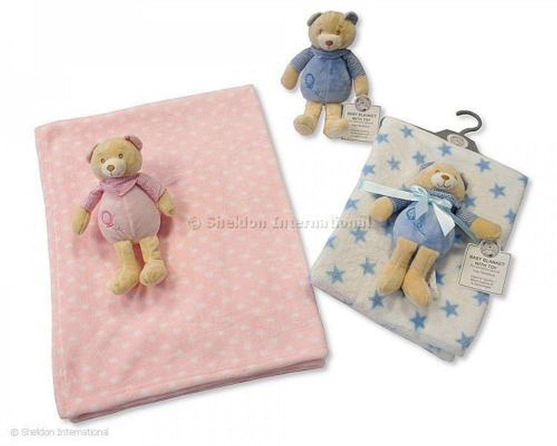 Couverture Bébé avec Peluche sur Cintre Teddy en Bleu !!! - GP-2516-0708 Snuggle Baby