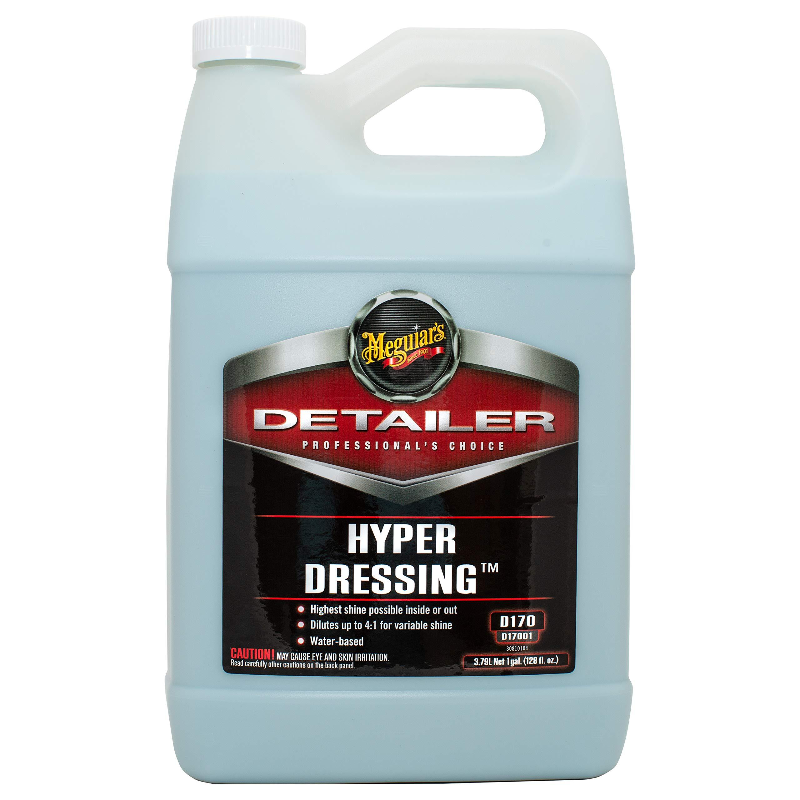Meguiar's D17001 Hyper Dressing - 1 Gallon – Give Your Car's Trim Pieces the Best Shine & Gloss