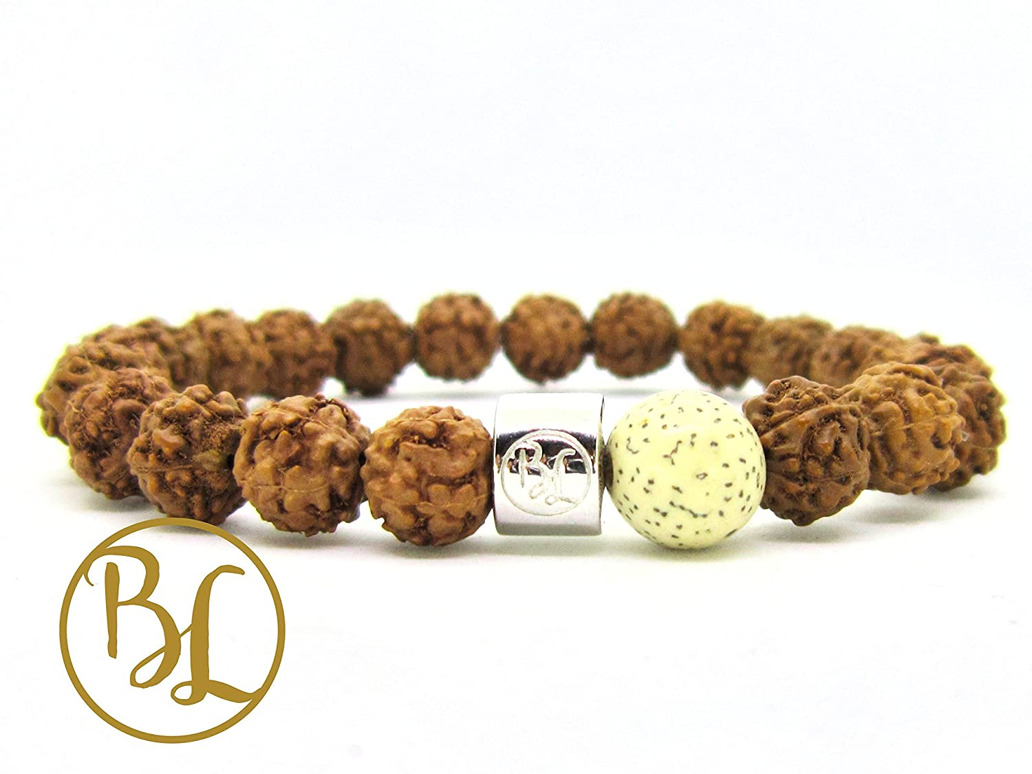 Amazon.com: Genuine Lotus and Bodhi Seed Mala Bracelet ...