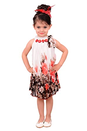 5795b63074f BEBO 21 Party wear Baby Girls Frock Dress (WHT51B White 6-7 Years ...