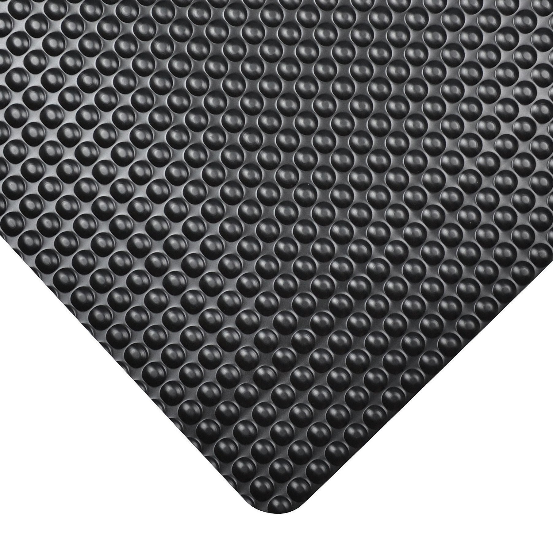 NoTrax 982 Bubble Trax Grande Safety/Anti-Fatigue Floor Mat with Vinyl Top Surface, for Dry Areas, 3' Width x 5' Length x 1'' Thickness, Black