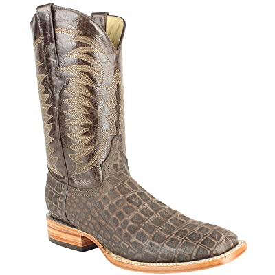 Men's Quincy Alligator Print Boots Square Toe Handcrafted