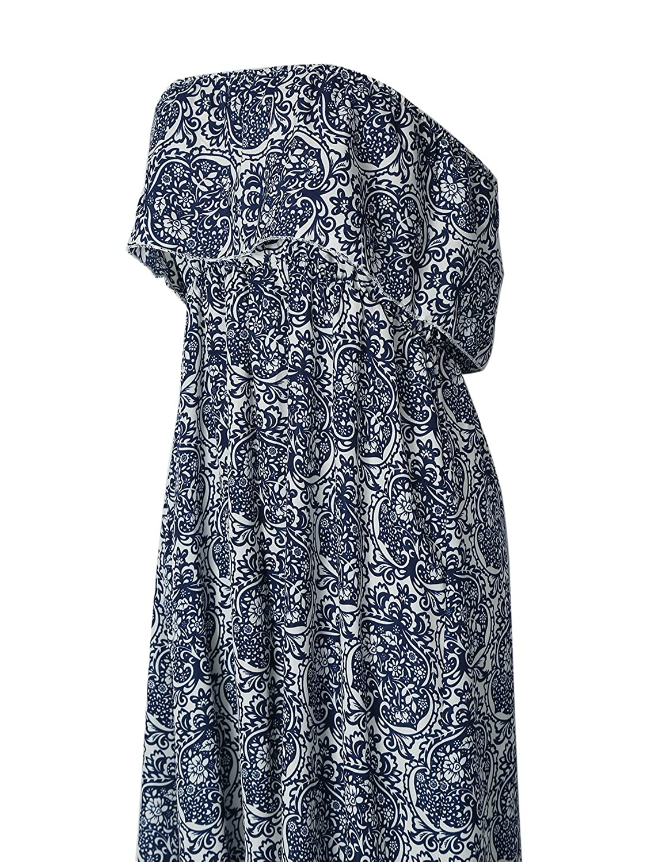Très Chic Mailanda Sommerkleid Damen Partykleid Lang Chiffon High Waist  Striped Sleeveless Beach Kleid Elegant (X-Large, Blau)  Amazon.de   Bekleidung 9f5de643fe
