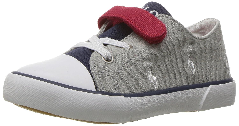 0e142ece0713c Amazon.com   Polo Ralph Lauren Kids Kody Gry NVY Jersey Colorblock Sneaker,    Sneakers