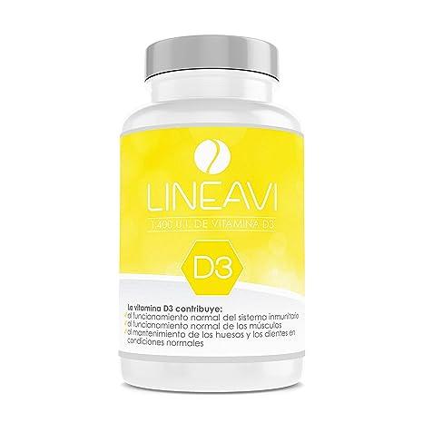 Vitamina D3 LINEAVI | 35 µg / 1.400 U.I. por cápsula | refuerza el sistema inmunológico