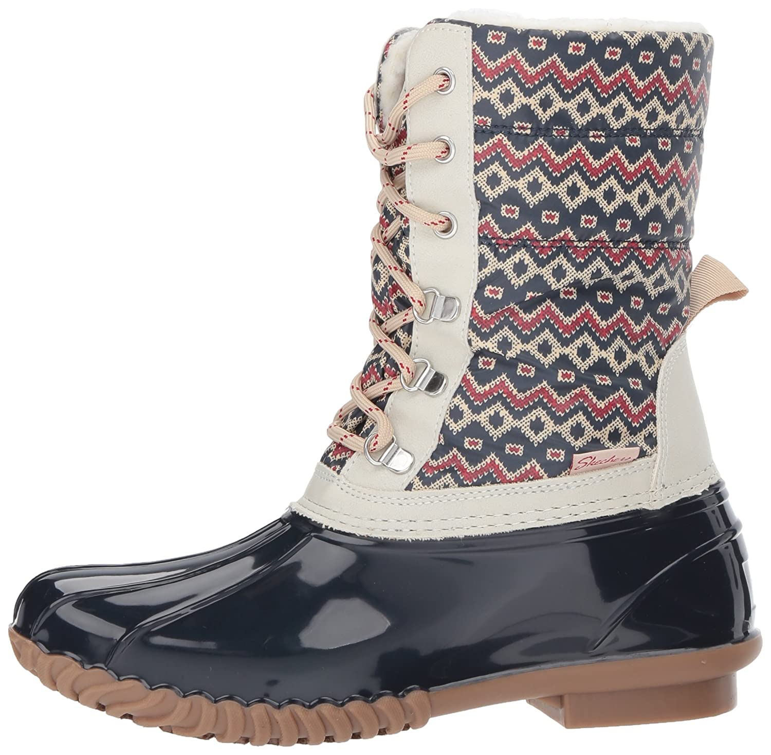 Skechers Women's Hampshire-Printed Quilted Snow Boot B0711M2V1Y 11 M US|Navy Natural