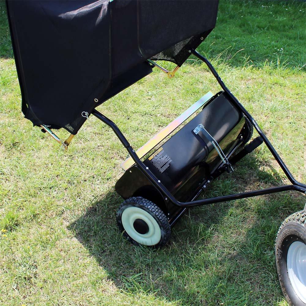 WilTec Barredora de césped 95 cm para segadora o Tractor jardín ...