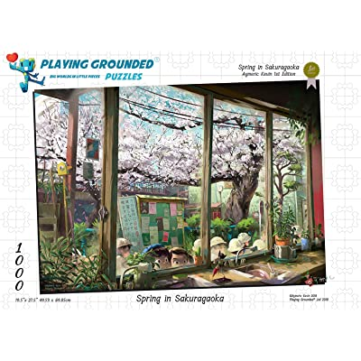Playing Grounded Limited Edition Jigsaw Puzzle 1000 Pieces Spring in Sakuragaoka Anime Puzzle Anime Collectible Fantasy Puzzle Children's Puzzle Children's Wall Decor: Toys & Games