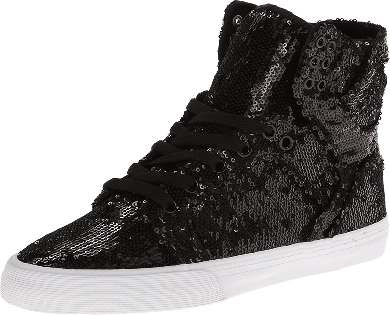 Supra Women's Skytop Black/White Sneaker 8.5 B (M)