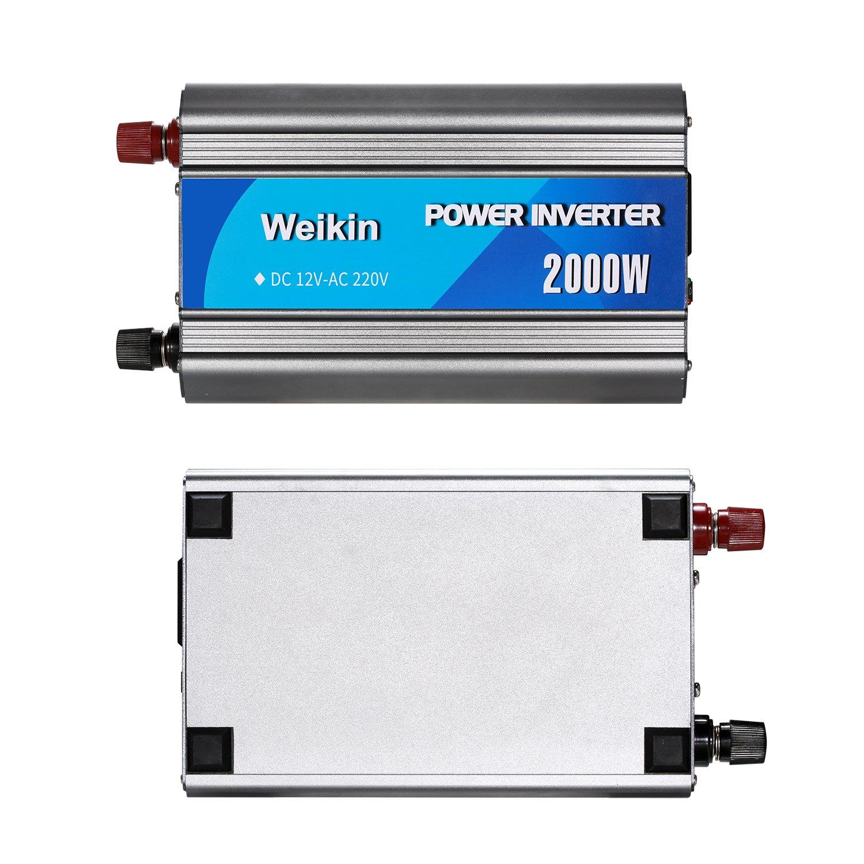 Weikin Power Inverter 2000 Watt Dc 12v To Ac 220v Car 100w Volt Converter 2000w For Home Use Garden Outdoor