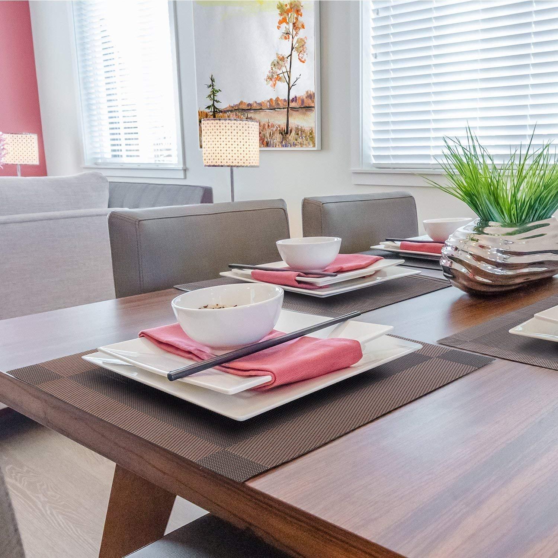 Braun MVPOWER Esstisch Platzsets//Tischsets,Ritzenhoff /& Breker Platzmatten-Set Wasch und hitzebest/ändige Anti-Rutsch Esstischmatten f/ür Home Restaurant Office 8er Set