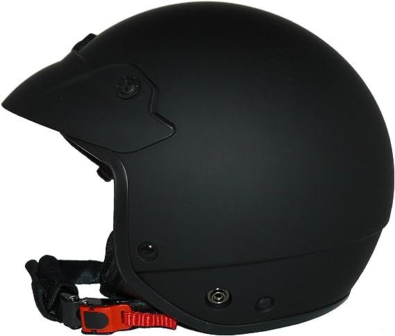 con visiera di colore integrata taglia S Protectwear H740 Casco jet nero opaco e scudo