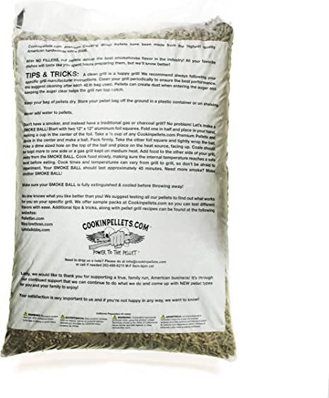 Amazon.com: CookinPellets 40H - Pellets para ahumar (nogal ...