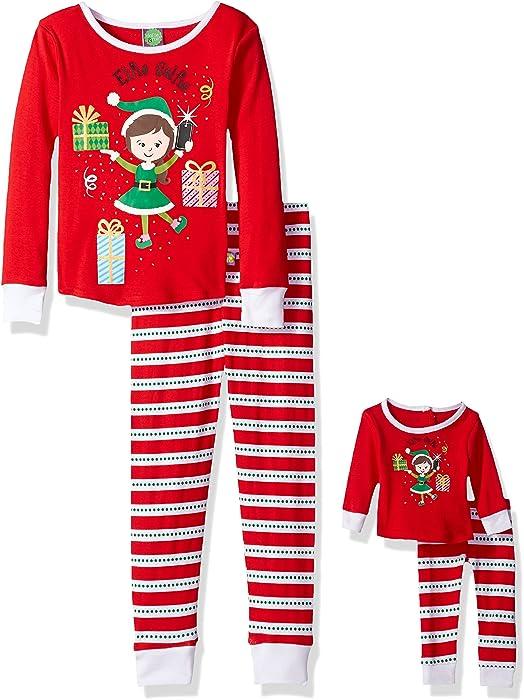 ee4c9d546e Amazon.com  Dollie   Me Girls  Little Christmas Snugfit Sleep Set ...
