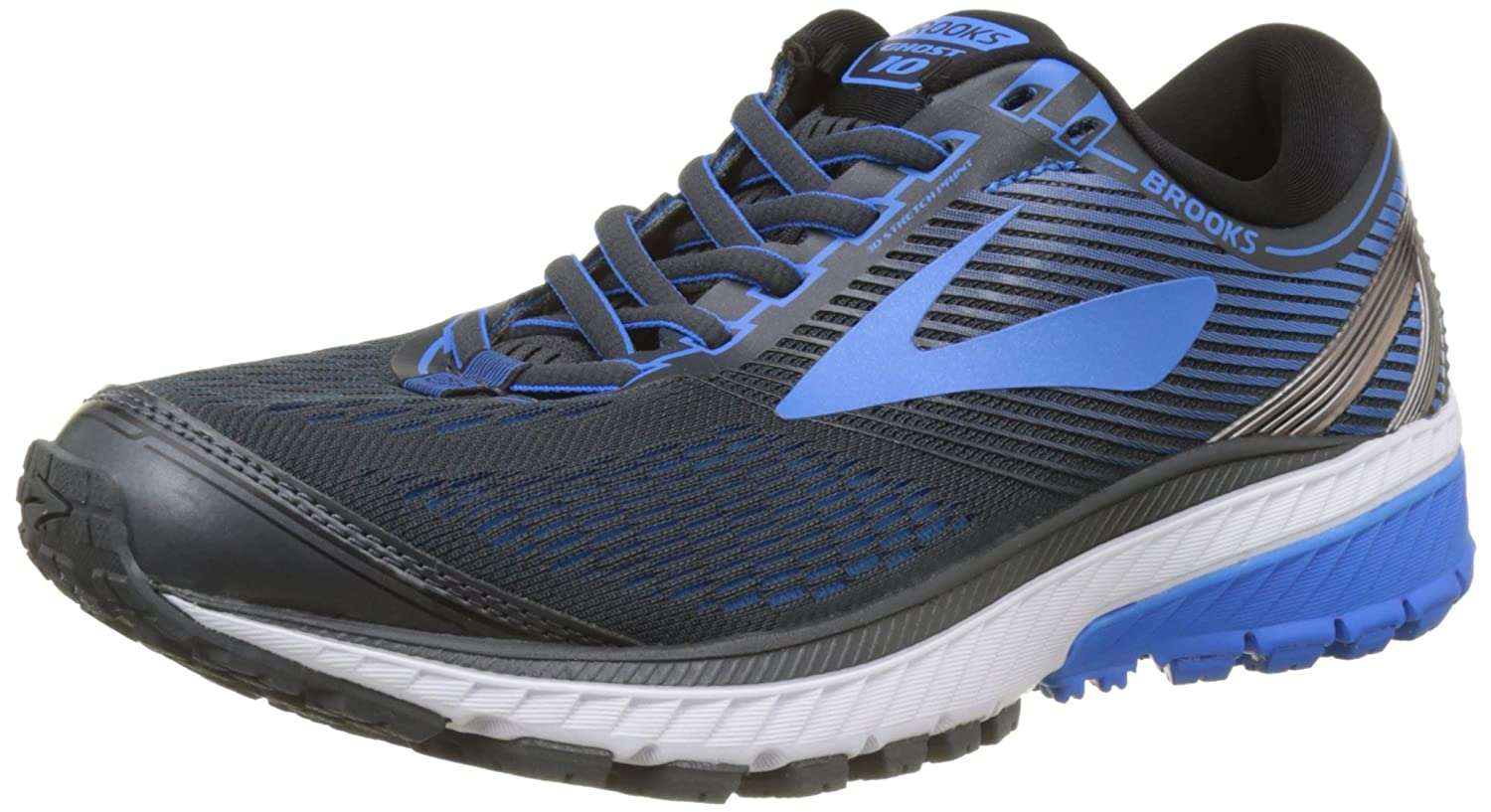[ブルックス] BROOKS メンズ ランニングシューズ ゴースト10 B01N8THKXH 12 EE - Wide|Ebony/Metallic Charcoal/Electric Brooks Blue Ebony/Metallic Charcoal/Electric Brooks Blue 12 EE - Wide