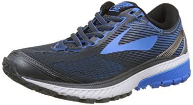 86e6ee99b4b Brooks Men s Ghost 10 Ebony Metallic Charcoal Electric Brooks Blue 8 ...