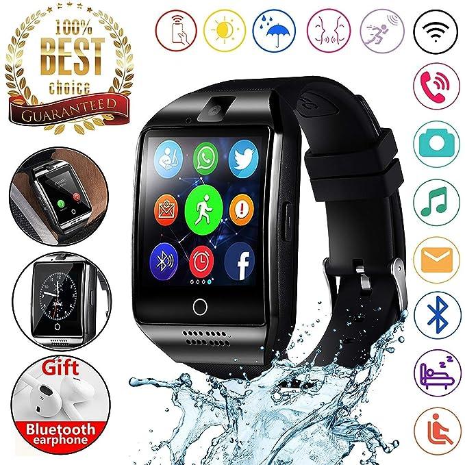 Amazon.com: 2018 Newest Bluetooth Smart Watch Touchscreen ...