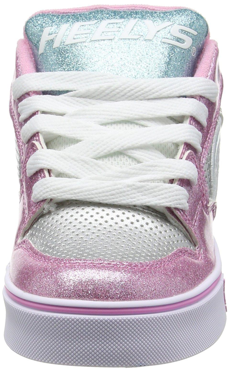 Heelys Girl's Motion Plus (Little Kid/Big Kid/Adult) Silver/Pink/Blue/Glitter Shoe by Heelys (Image #4)