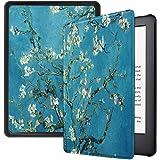 Capa Kindle 10ª geração com iluminação embutida – Auto Hibernação – Fecho Magnético – Apricot Flower