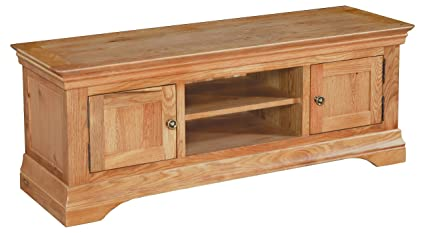 huge discount c8c5c ff9bb Bordeaux Solid Oak Large 2 Door Corner TV Unit / French ...