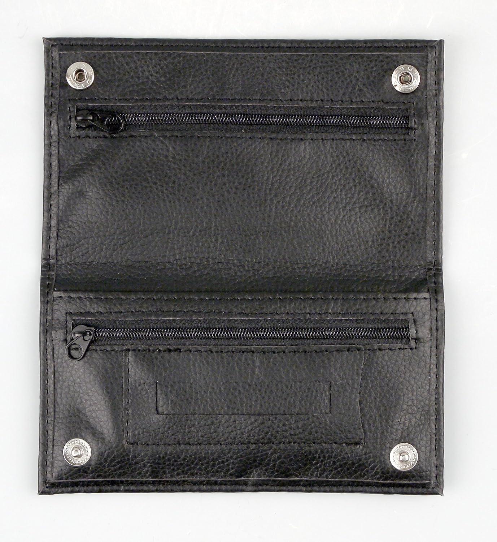Tabaktasche Tabakbeutel Drehertasche  Kunstleder in schwarz Feinschnittbeutel