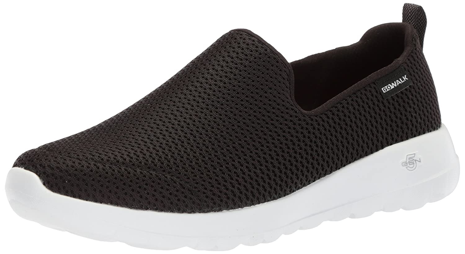Skechers Women's Go Joy Walking Shoe B072FBQ5RJ 7 B(M) US|Black/White