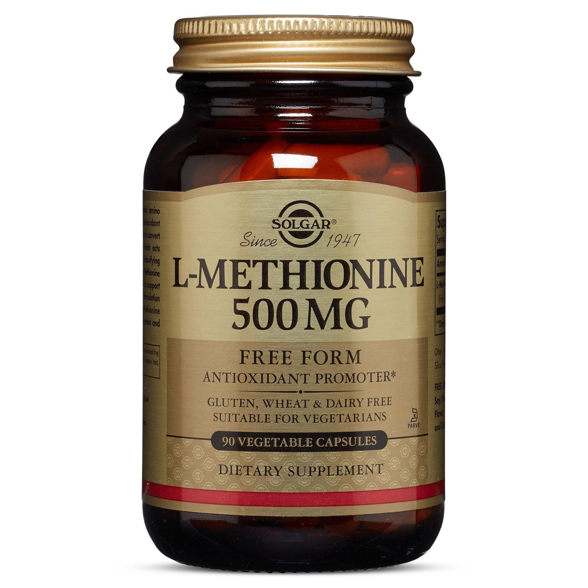 Solgar – L-Methionine 500 mg, 90 Vegetable Capsules