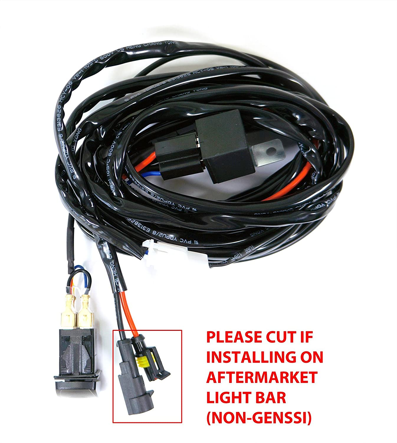 Genssi Led Wiring Harness Experts Of Diagram Light Amazon Com Bar Relay And Switch 9ft 4x4 Off Rh Road Lights