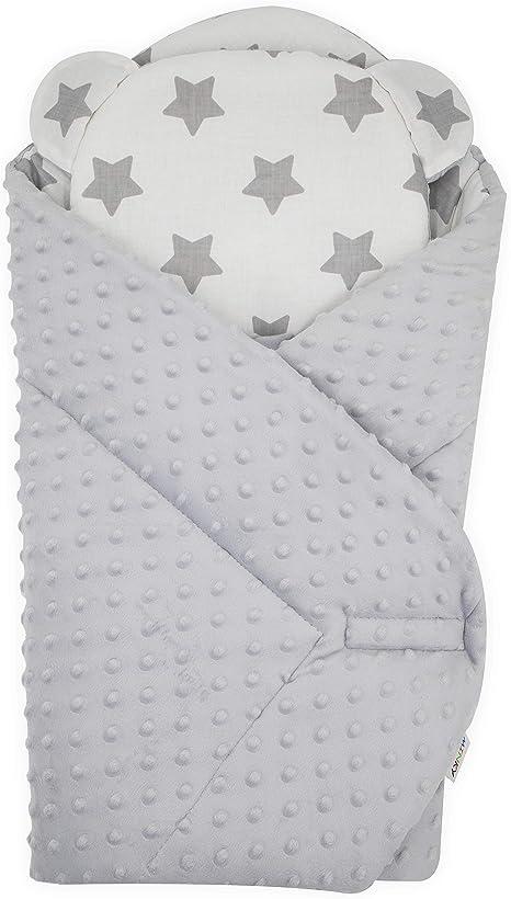 Leaf Cocoon Sleeping Bag for Infant Newborn Baby Swaddle Cocoon Sack Swaddle Wrap Beanie Set