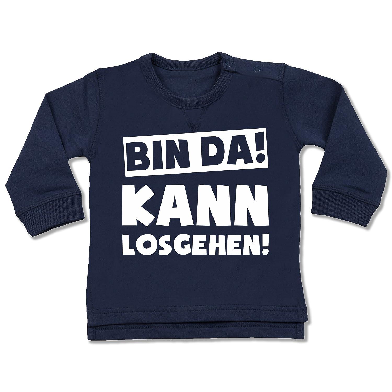 Shirtracer Sprüche Baby - Bin da kann losgehen - Baby Pullover BZ31