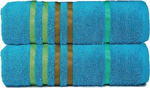 Juego de toallas de algodón egipcio de 6 piezas para cocina y baño, color blanco brillante (2 toallas de baño tamaño ...