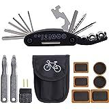 Kit de Reparación para Bicicleta 16 en 1. Set de Herramientas para Bicicleta de Montaña o BMX. Incluye Estuche con 16…