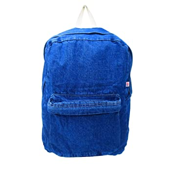 Amazon.com   Womens School Backpack College Canvas Classic Denim Student  Satchel Book Bags School Bag Jeans Backpack Daypack Travel Rucksack   Kids   ... cc0fedeca3