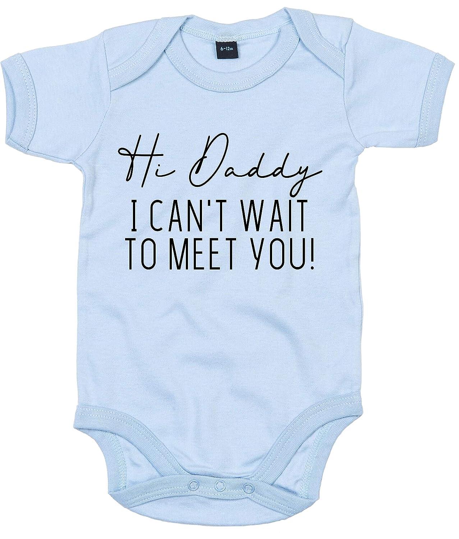 FunkyShirt Hi Daddy I Can't Wait to Meet You Babygrow