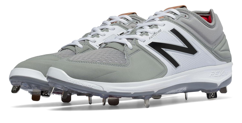 (ニューバランス) New Balance 靴シューズ メンズ野球 Low-Cut 3000v3 Metal Cleat Grey with White グレー ホワイト US 7 (25cm) B01J5BRFFW