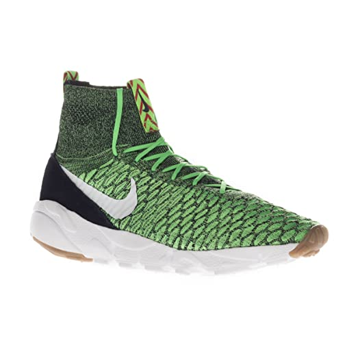 Nike Air Footscape Magista Flyknit 816560-300 Poison Green/White Men's Shoes  (size