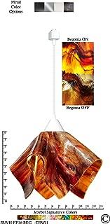 product image for Jezebel Signature Flame Track Lighting Pendant Large. Hardware: White. Glass: Begonia