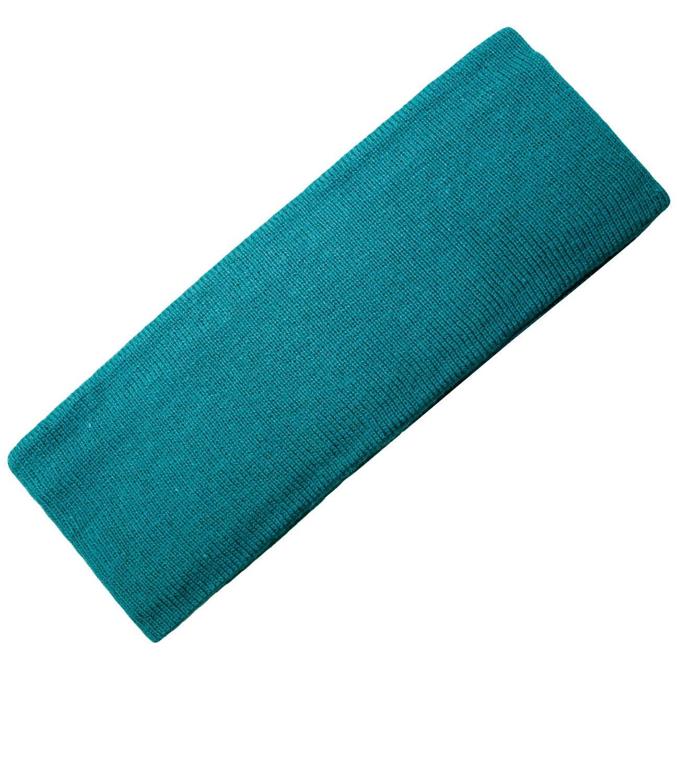 EveryHead Jungenstirnband Stirnband Strickstirnband Winterstirnband Mützenersatz Ohrenwärmer Baumwolle uni elastisch für Kinder (PT-7830-W16-JU0) inkl Hutfibel